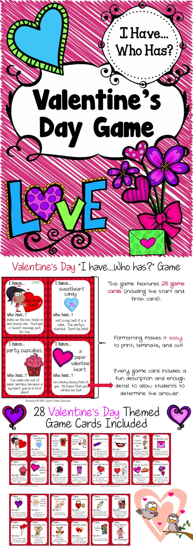 Worksheet I Have Who Has Multiplication Facts 1000 images about i have who has games on pinterest game cards freeeebie alert valentines day with 28 cards