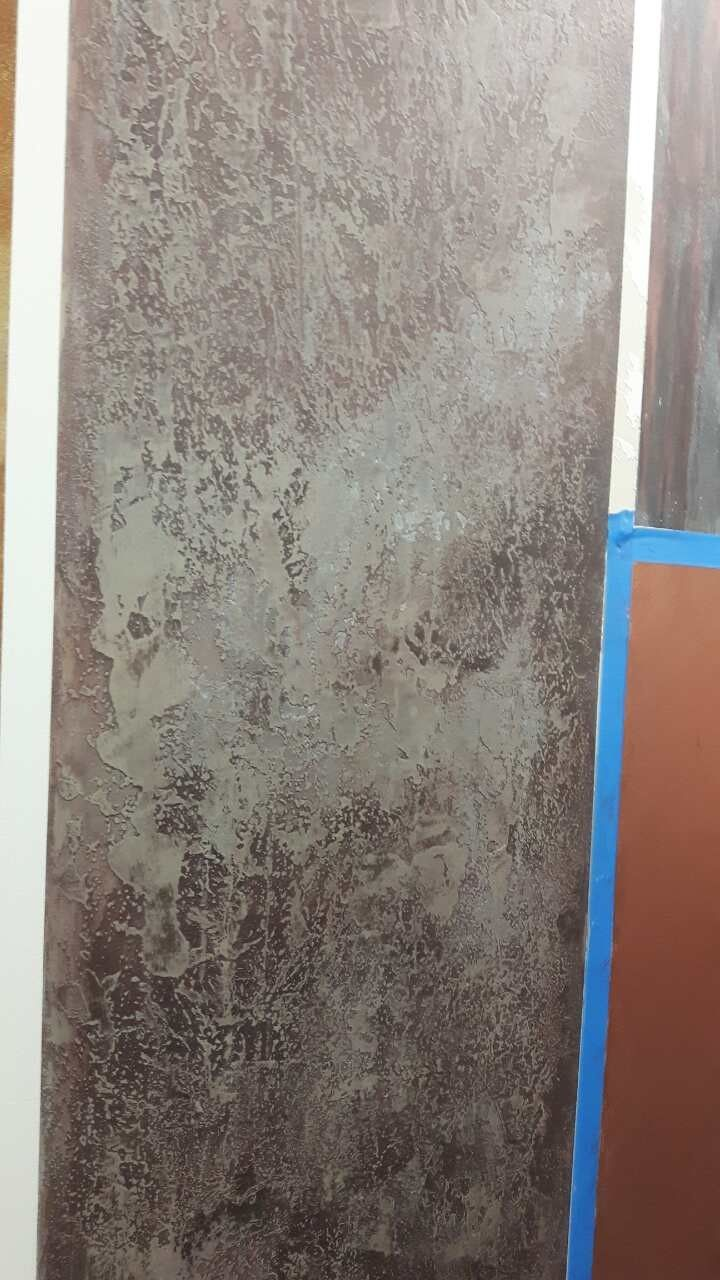 rubbed stone, dirt textured wall using paint