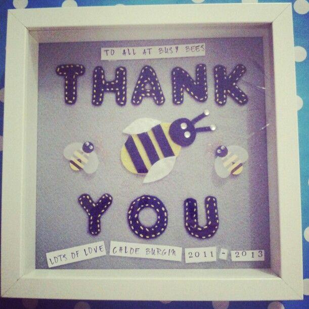 thank you frame