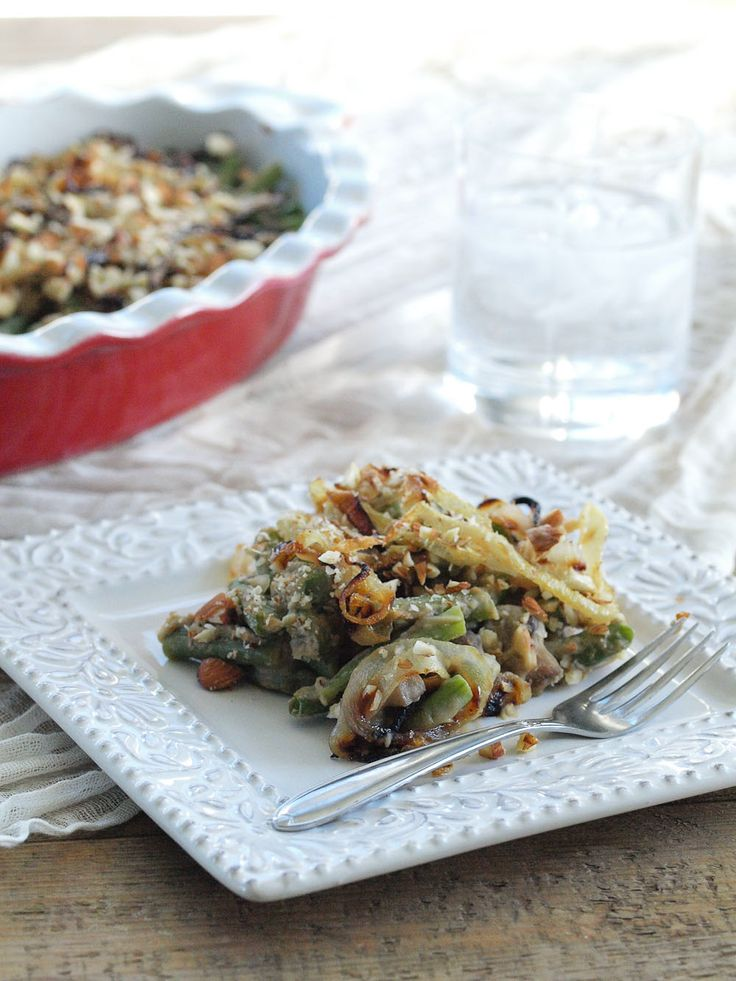 casserole dairy vegan green bean casserole happy healthy healthy side ...