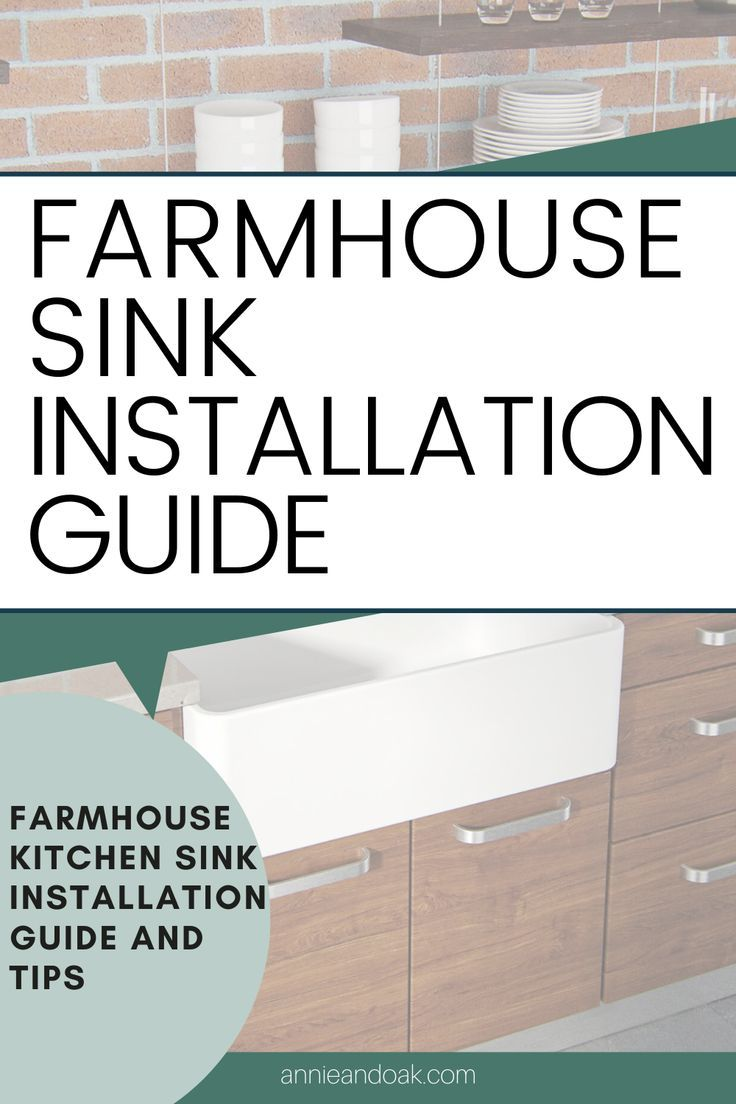 How To Install A Farmhouse Sink A Simple Guide For Diy Farmhouse Sink Installation Farmhouse Sink Farmhouse Sink Kitchen