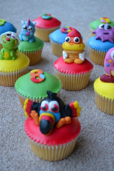 Moshi monster cupcakes (moshlings!!)  Cake by heavenly