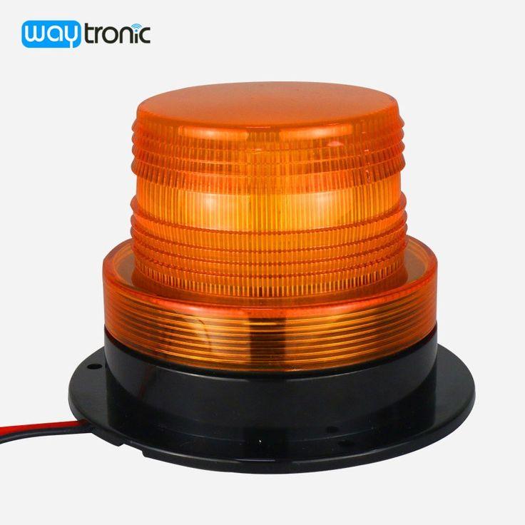 Forklift Truck Amber Strobe Warning Light Magnetic LED Flashing Beacon Light Waterproof Traffic Warning Signal Lamp 12V 24V
