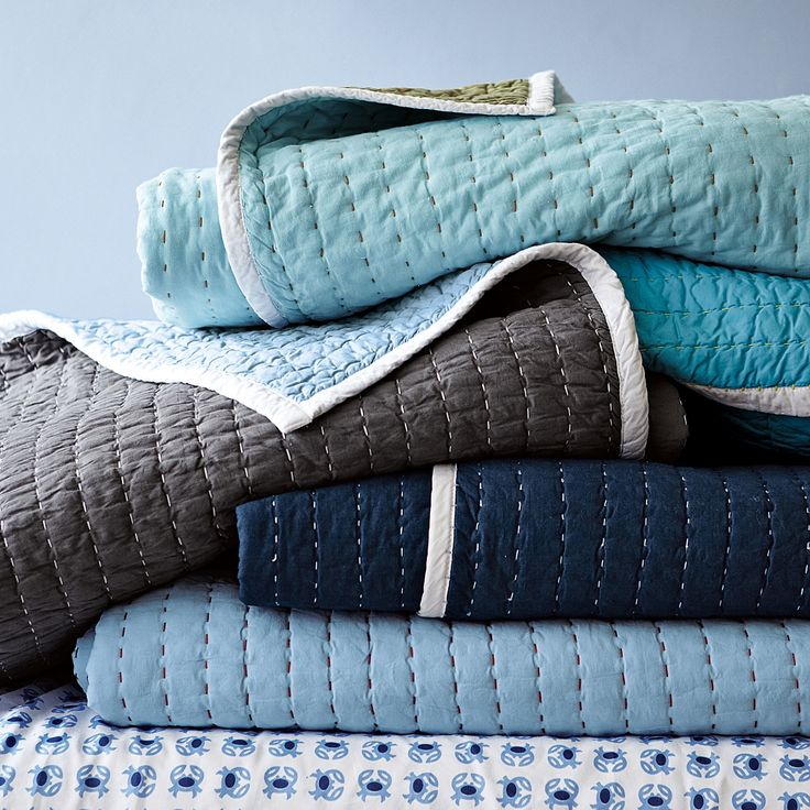 Turquoise Cabin Quilt | Serena & Lily