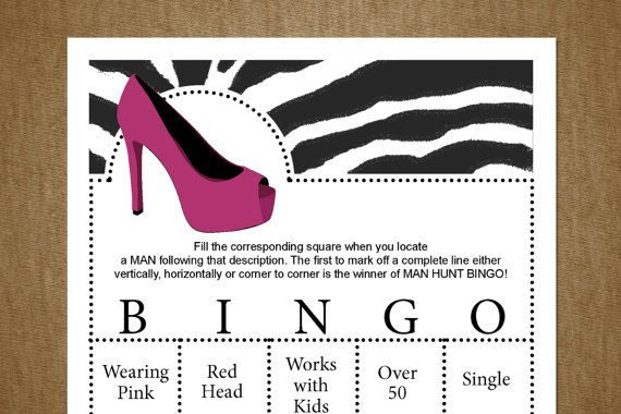 Printables games fun parties games bingo parties bachelorette