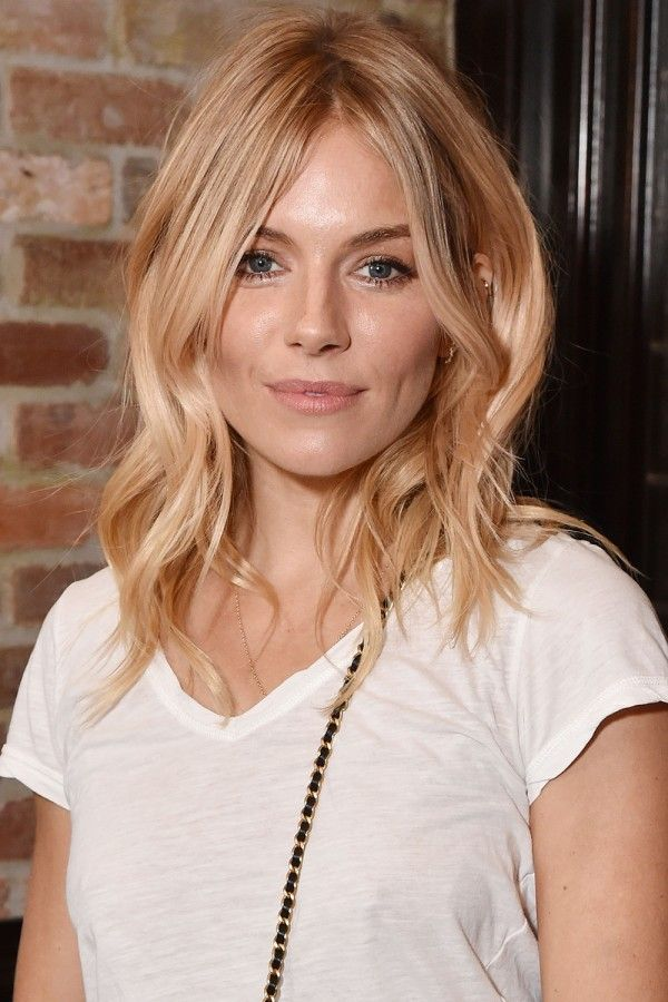 Sienna Miller's Peachy Blonde Tresses Have Us Reaching For The Pastel Tint