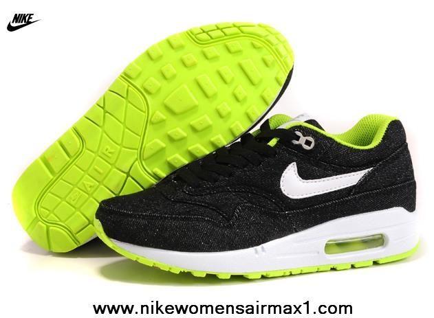 Nike Air Max 1 89 Womens Running Shoes Jean Black