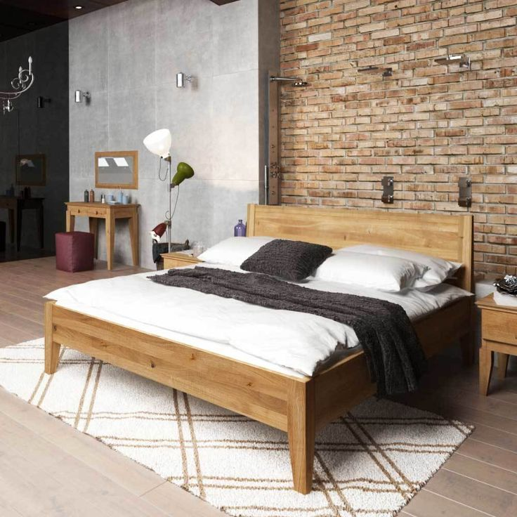 die besten 25 holzbett massiv ideen auf pinterest. Black Bedroom Furniture Sets. Home Design Ideas
