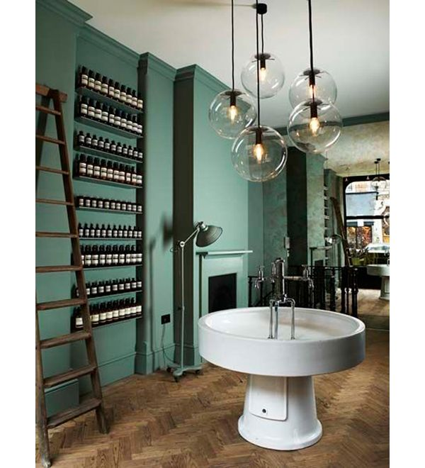 The first London outlet shop for the Australian skincare company Aesop. The Victorian interior was restored and a combination of antique and contemporary details and furnishings were incorporated into the space. Interior design by Ilse Crawford...