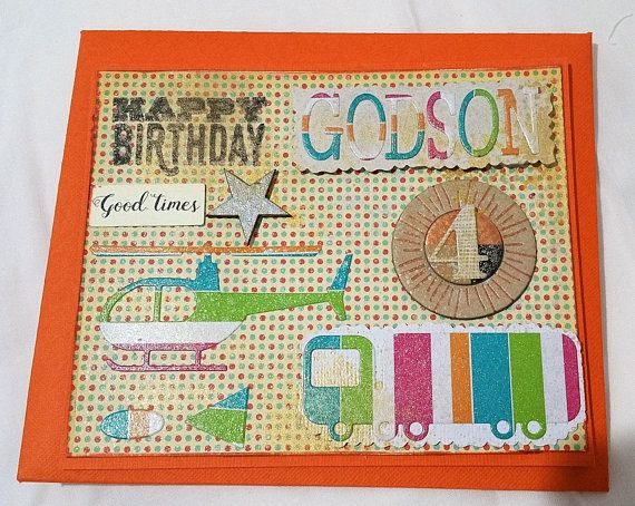 Cards  Birthday Card Godson  Handmade Cards  Any occasion
