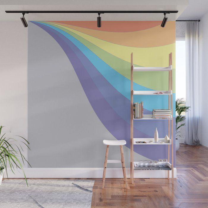 RAINBOW NURSERY WAVE DECALL BEDROOM  WALL  GRAPHIC