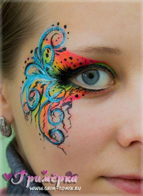 Аквагрим, грим, узор face painting, make-up,  pattern ideas for kids #facepaintingideasforadults