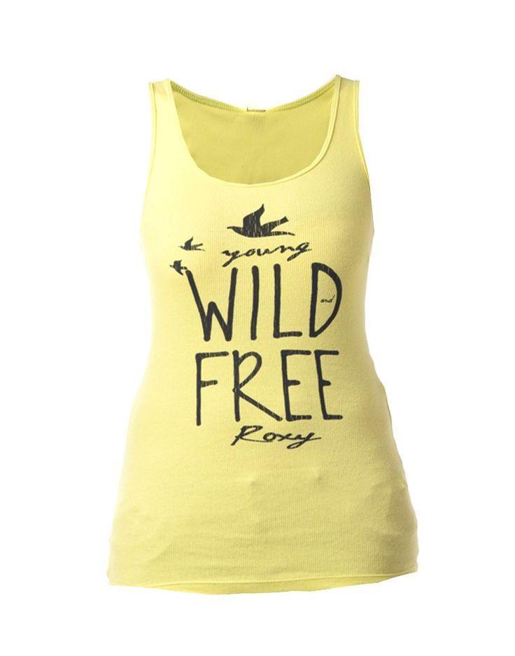 ROXY   Sea Born Tank in Acid Yellow - Women - Style36  #RihannaStyle36