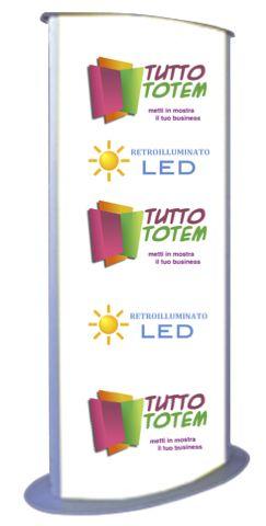 Totem da esterno luminoso con tecnologia LED Disponibili sul nostro negosio online, con diverse misure .
