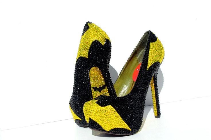 All Crystal BATMAN Heels with crystal soles