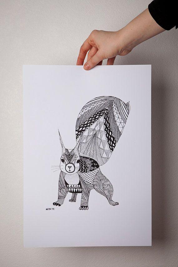 little squirrel print