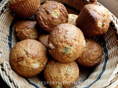 muffinki z rabarbarem #muffins #eksperymentsobotni
