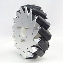(6 inch) 152mm mecanum wheel left with bearing rollers 14101. The mecanum wheels have some rollers mounted along its circumstance and the rubber rollers...
