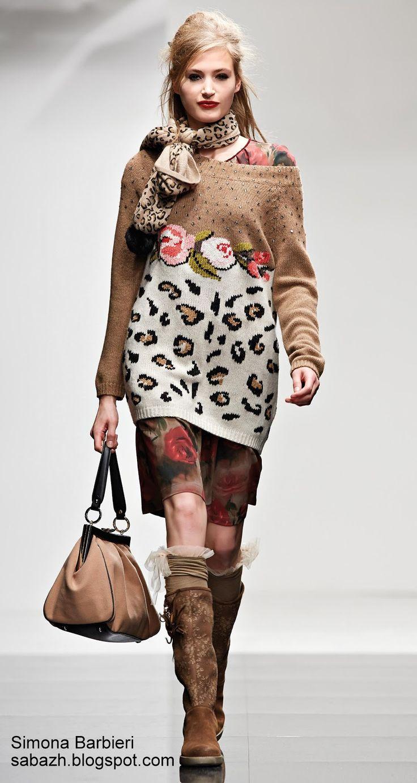 СТИЛЬНОЕ ВЯЗАНИЕ: вязаный свитер 2014
