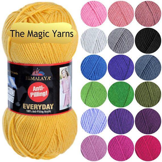 Himalaya Everyday Antipilling Acrylic Yarn A Wide Range Of Colors