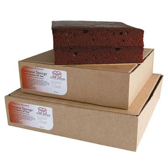 "Chocolate Genoese Sponge Cake –Square – 10"""