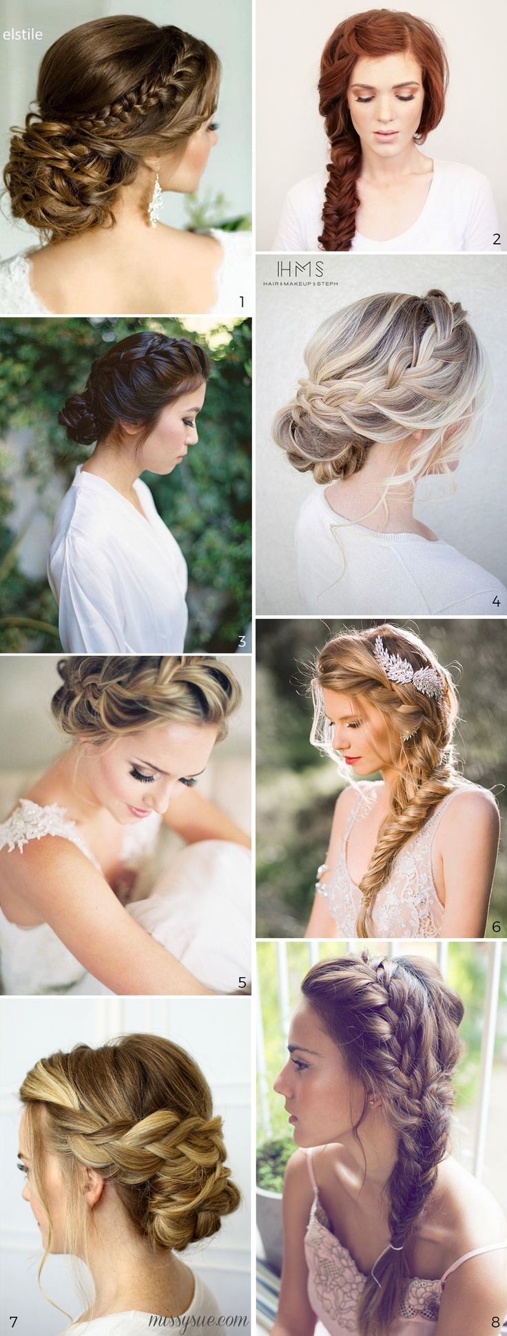 Wedding Hairstyles: 5 Unavoidable Trends. 8 examples of braided hairstyles for the bride.