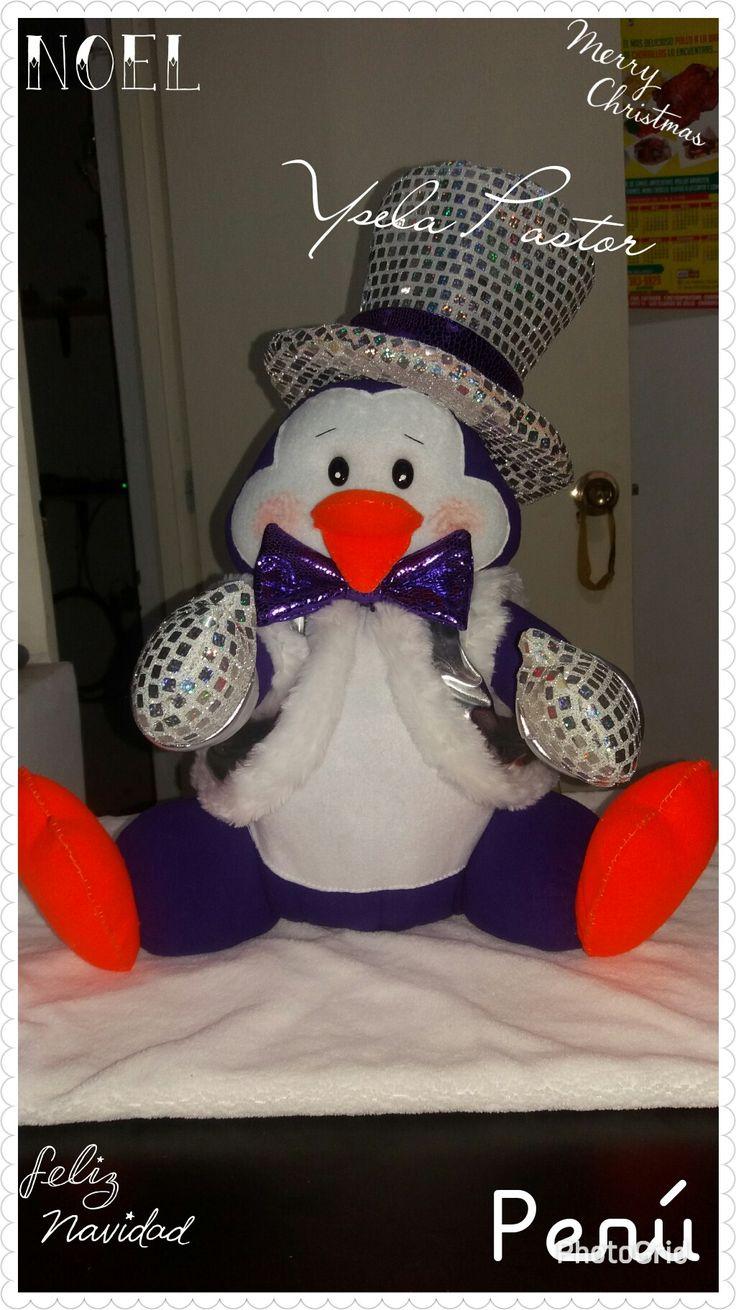 Pingüino sentado