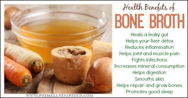 health benefits of bone broth & recipe link on how to make it : http://www.primallyinspired.com/how-to-make-bone-broth/