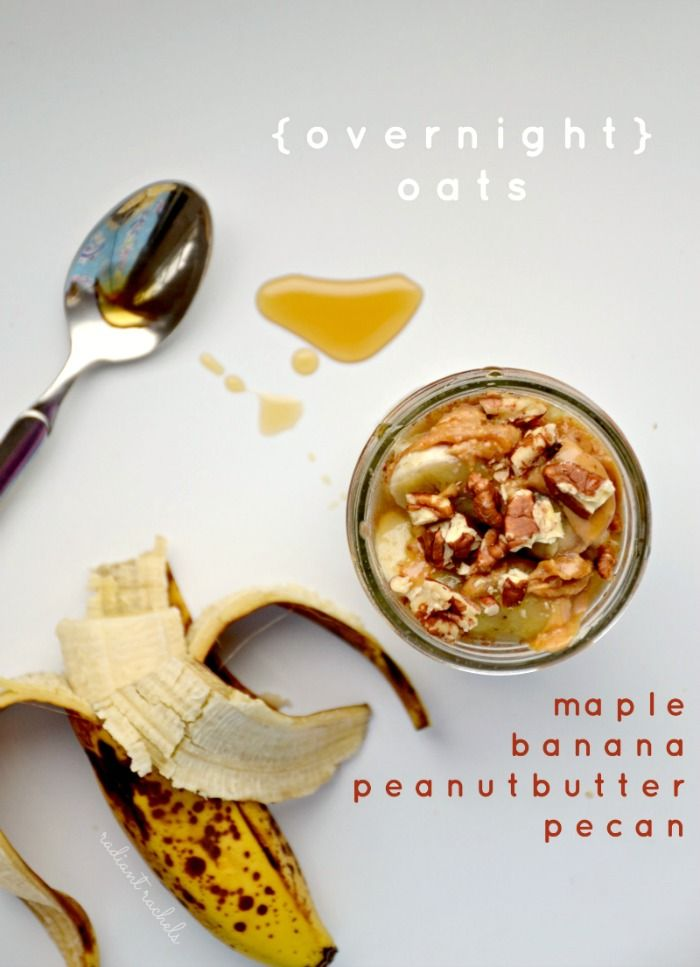 These maple PPBB overnight oats are the perfect breakfast. Naturally sweetened with banana and maple syrup, and flavoured with peanut butter and pecans.