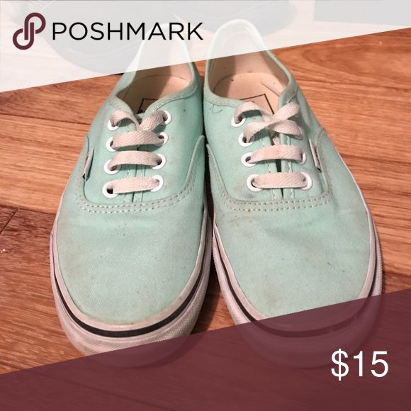Mint Green Vans Gently used Vans in mint green, in great condition! Vans Shoes Sneakers