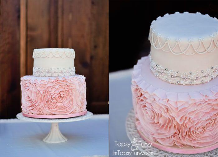 Cake Decorating How To Make Rosettes : Fondant Rosette Cake Rosette Cake, Fondant and Wedding ...