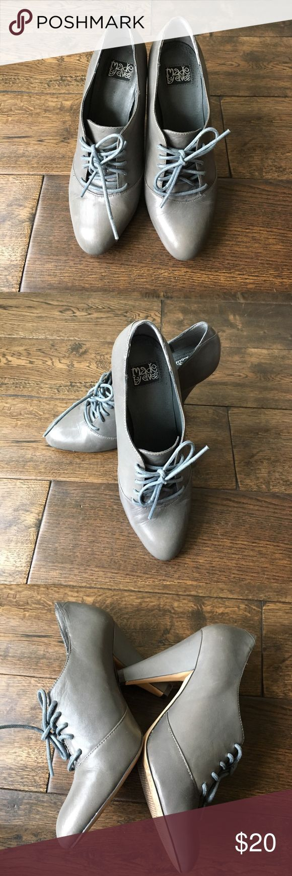 "Urban outfitters made by elves lace up heels  7.5 Worn 2x has 4"" heel. Great condition. I accept most offers. Comment with questions ❤️ Urban Outfitters Shoes Heels"