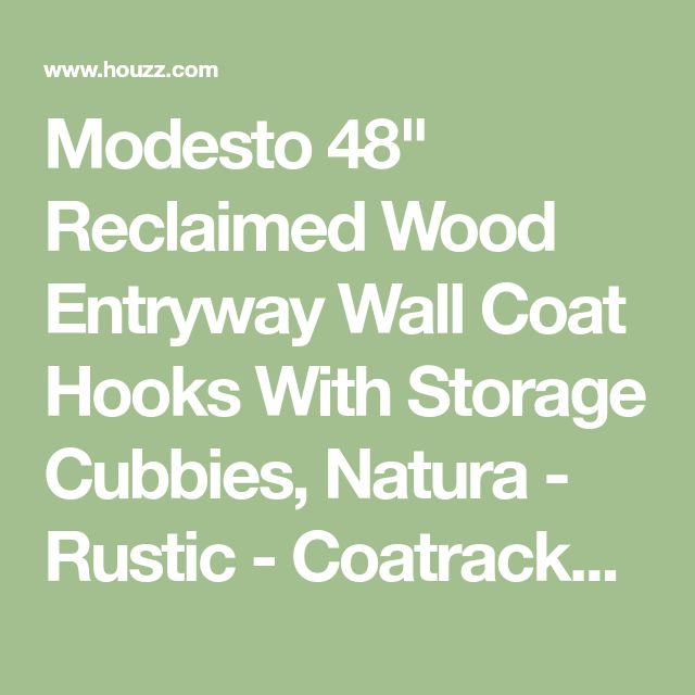 "Modesto 48"" Reclaimed Wood Entryway Wall Coat Hooks With Storage Cubbies, Natura - Rustic - Coatracks And Umbrella Stands - by Bolton Furniture, Inc."