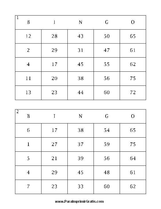 juego de loteria para niños de numeros - Buscar con Google | primer ...