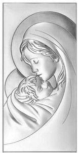 Obrazek Matka Boska z dzieciatkiem - (BC#6381) Pasaż Handlowy