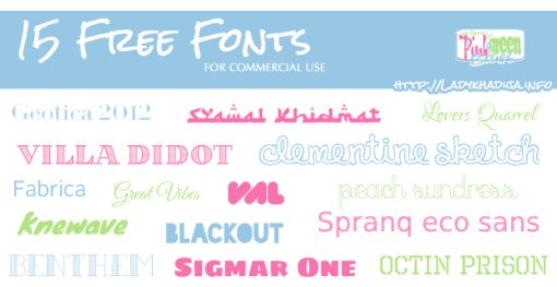 Fifteen free fonts available for commercial use to add to your design and typography toolbox!
