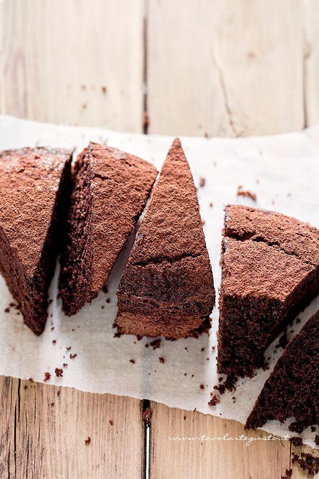 Fette di Torta al cioccolato senza Burro