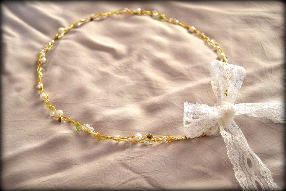 Beaded Headband Rhinestone Headband Prom by MarianaHandmade, $35.00