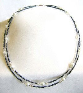 Silver Shade Bead Necklace   AllFreeJewelryMaking.com
