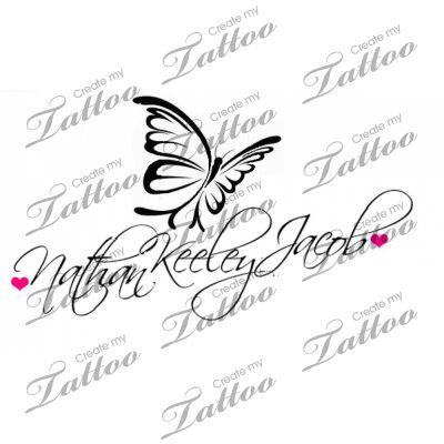Tattoo with children's names | tat #31212 | CreateMyTattoo.com