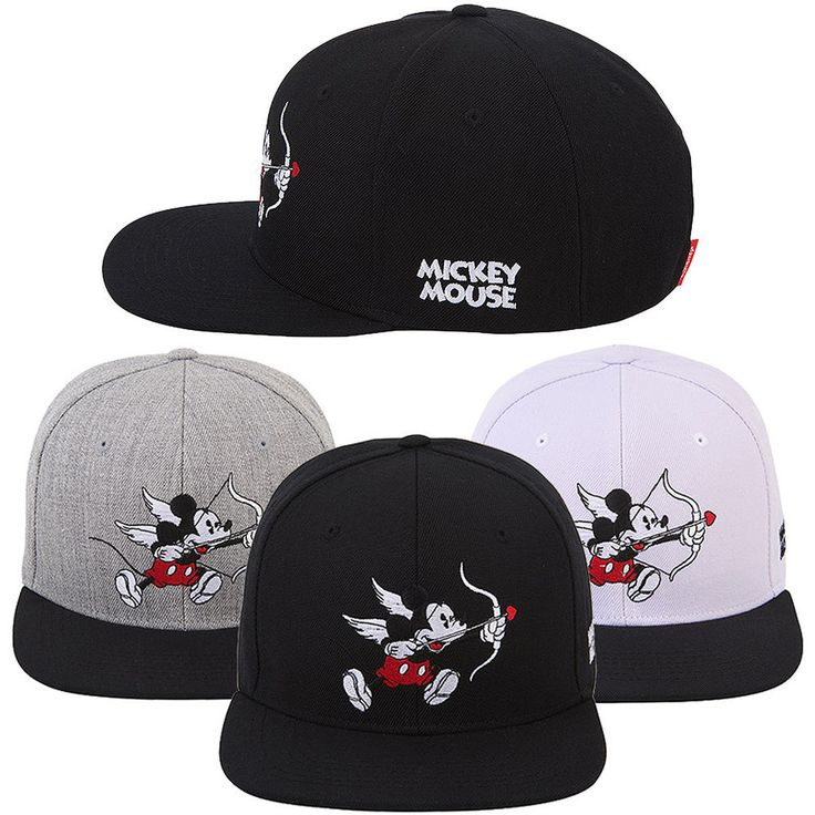 Unisex Men Women Authentic Disney Cupid Mickey Mouse Baseball Snapback Caps Hats #hellobincom #BaseballCapHats