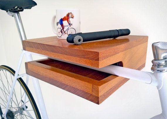 Hardwood bike rack & shelf MINI handmade by Porventura on Etsy