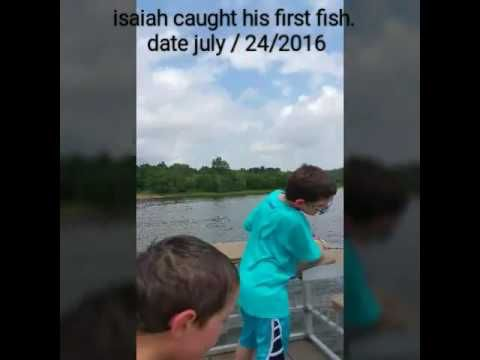 ISAIAH CAUGHT HIS FIRST FISH, WISCONSIN RIVER, date july / 24/2016 - YouTube…