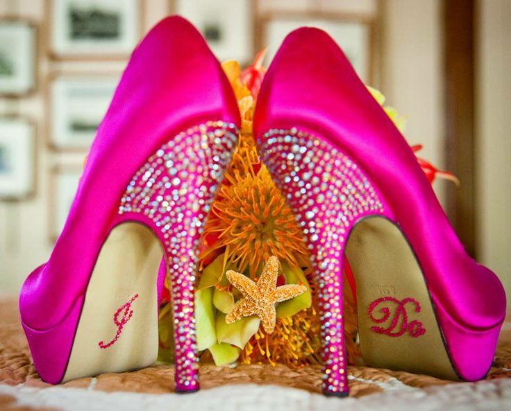 #Wedding shoes #pink #bling @Lindsey Carruth Bridal   ttp://www.advantagebridal.com/i-do-shoe-stickers-me-too-shoes-wedding-shoe-stickers.html
