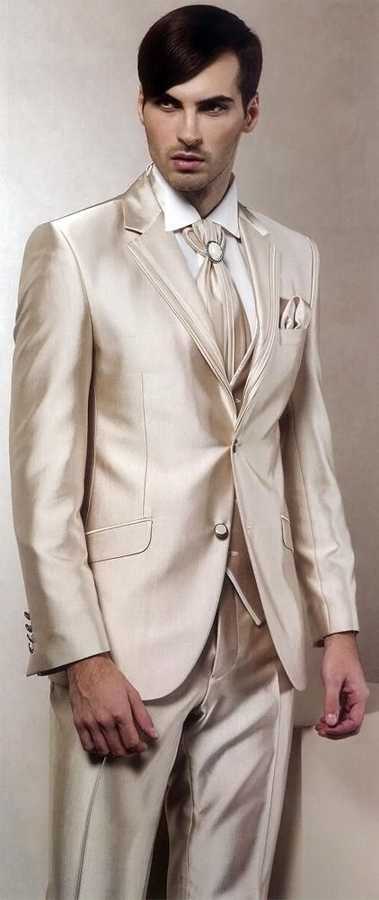 You will become such a outstanding man with high quality handsome groom tuxedos notch lapel best man suit shiny champagne groomsman men's wedding/prom suits (jacket+pants+tie+vest)a99 offered by helenshop2010. Besides, DHgate.com also provide formal clothes for men suit sales and suit stores.