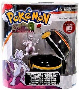 "Amazon.com: TOMY Pokemon Clip 'N"" Carry Pokeball ~ Mewtwo Figure & Pokeball: Toys & Games"