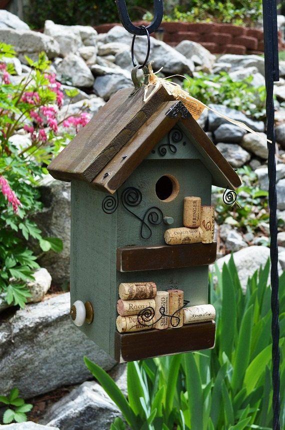 162 best images about maison d 39 oiseaux en bouchons li ge for Creative birdhouses