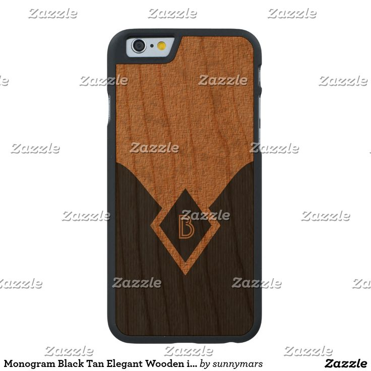 Monogram Black Tan Elegant Wooden iPhone 6 6S Case Carved® Cherry iPhone 6 Slim Case