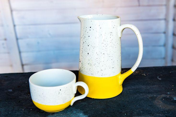 Sprenkel auf Keramik