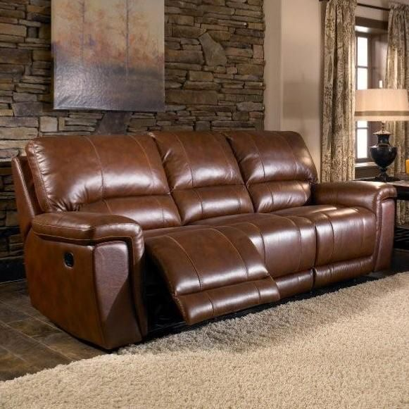HTL 2678CS Hazelnut Leather Sofa